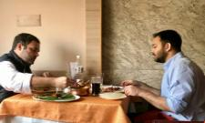 Tejasvi yadav twitted about his lunch with Rahul Gandhi - Sakshi