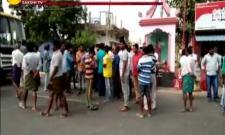 Road accident in Amravati, tension - Sakshi
