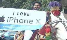Mumbai Man Horse ride to receive iPhone x - Sakshi
