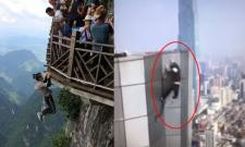 Chinese daredevil rooftopping star falls 62 storeys to his death - Sakshi