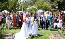 lesbian couples get married in Australia - Sakshi