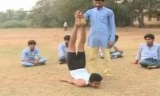 Student Had Talent in Yoga - Sakshi
