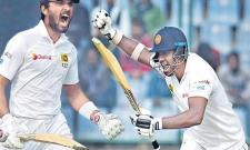 Story image for chandimal from Cricbuzz India reclaim control after Mathews, Chandimal tons - Sakshi