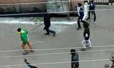 Young Men Armed With Guns viral Video - Sakshi