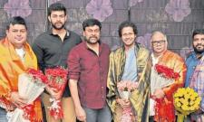 Tholi Prema Team Meets Mega Star Chiranjeevi  - Sakshi