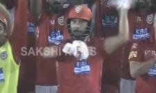 Yuvraj Singh Gangnam Style-esque dance on Chris Gayle Hundred,Yuvraj Singh Dance Chris Gayle Century - Sakshi