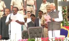 HD Kumaraswamy Oath-Taking Ceremony - Sakshi