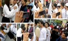 Girl hugs boys to celebrate Eid, video goes viral - Sakshi