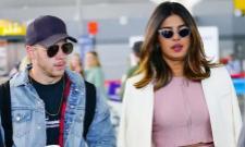 Priyanka Chopra arrives with beau Nick Jonas in Mumbai - Sakshi
