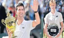Novak Djokovic wins fourth Wimbledon by beating Kevin Anderson - Sakshi