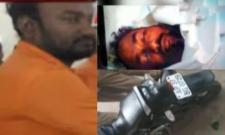 Unknown Person Murder Attempt On Man In Vijayawada - Sakshi
