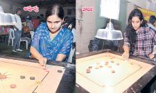 Apoorva, Harika won Opener Games of Carrom Tournament - Sakshi
