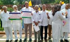 YSRCP Former MPs Protest In Delhi - Sakshi