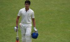 Arjun Tendulkar Out For A Duck In Debut Under 19 Match - Sakshi