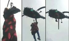 Navy Chopper Rescues Pregnant Woman From Flood - Sakshi