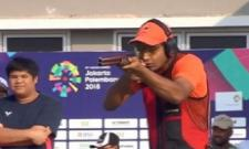 Lakshay Sheoran Wins Silver In Mens Trap In Asian Games - Sakshi