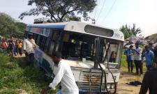RTC Bus Accident At Nagar Kurnool - Sakshi