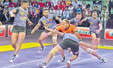Hyderabad Bulls pip Nalgonda Eagles in Kabaddi League - Sakshi