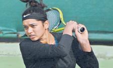 Doubles title win sowjanya - Sakshi