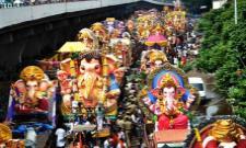Ganesh Nimajjanam Celebrations In Telangana - Sakshi