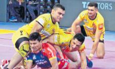 Telugu Titans beat UP Yoddha  - Sakshi