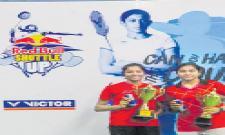 Aparna and Mythreyi Pair won Badminton Title - Sakshi