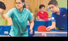 Vidhi, Bhavita in Quarters of Table Tennis - Sakshi