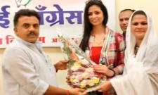 Mohammed Shami Wife Hasin Jahan Joines Congress Party - Sakshi