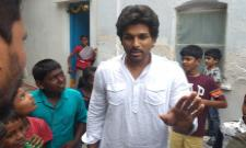 Allu Arjun Dussehra Festival Celebrated In Mother In Law Village - Sakshi