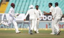 Windies rattled early after India post 649 - Sakshi