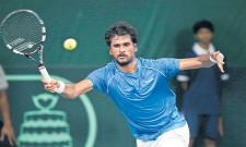 Saketh Myneni enter to 2nd round - Sakshi
