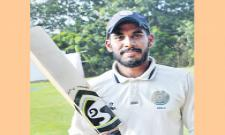Hyderabad Opener Pradeepuri Akshath Reddy On the second day in the Ranji match - Sakshi