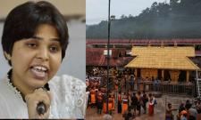Trupti Desai, Heading To Sabarimala, Faces Protests At Airport - Sakshi