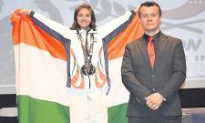 Silver In Karate Purvi Sharma Win In Athens Games - Sakshi