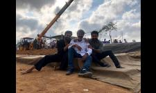 RRR Movie: Rajamouli shares a pic from a Set - Sakshi