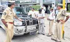 Wrong Parking Challans To Police Bosses In Hyderabad - Sakshi