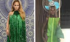Netizens Comments On Jennifer Lopez Cape Dress Photo - Sakshi