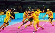Telugu Titans Win With Patna Pirates - Sakshi