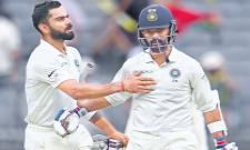 India is playing consistently in the second Test against Australia - Sakshi