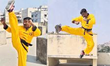 Chandramohan Select For International Karate Champion Competitions - Sakshi