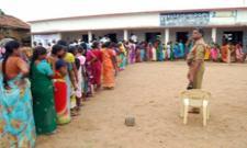 Telangana First Phase Gram Panchayat Election Polling Begins - Sakshi