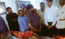 Chiranjeevi Condolences to Vijaya Bapineedu - Sakshi