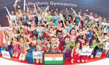 Rhythmic Gymnastics First Time in Hyderabad - Sakshi