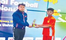 Sohails Six Goals takes Telangana into semis of football championship - Sakshi