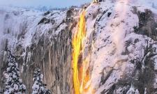 Firefall is back, delighting Yosemite visitors with its lava-like flow - Sakshi