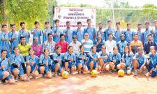Sameena, Mathew in Telangana Throw Ball Team - Sakshi
