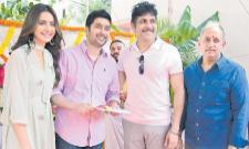 Akkineni nagarjuna Manmadhudu 2 Movie Launch - Sakshi