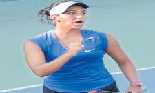 Sravya Shivani defeated in ITF Womens Tourney - Sakshi