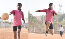 Handicapped Person Tallent in Sports Waiting For Helping Hands - Sakshi
