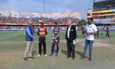 Sunrisers Hyderabad Won The Toss Elected to Field Firtst Over KKR - Sakshi
